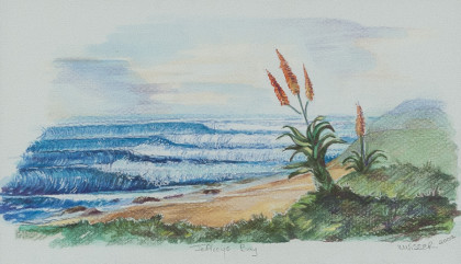 'Jeffreys Bay', 25x16, original, framed, R 3 900