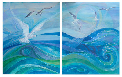 'Silver wings 2', 82x52 ,original, unframed, R 6 500