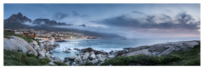 'Early evening vista...Camps Bay', 105x35, R 4 700